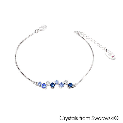 Symphony Bracelet Montana Pure Rhodium Plated Lush Addiction Crystals from Swarovski