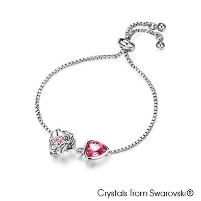 Trilliant Rose Bracelet (Rose, Pure Rhodium Plated) - Lush Addiction, Crystals from Swarovski®