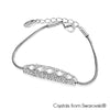 Extravagant Bracelet Clear Crystal Pure Rhodium Plated Lush Addiction Crystals from Swarovski