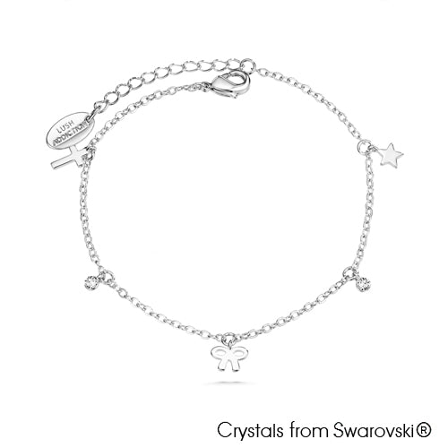 Teeny Bracelet (Clear Crystal, Pure Rhodium Plated) - Lush Addiction, Crystals from Swarovski®