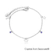 Teeny Bracelet (Tanzanite, Pure Rhodium Plated) - Lush Addiction, Crystals from Swarovski®
