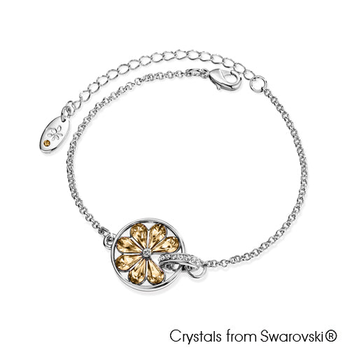Cocktail Bracelet Crystal Golden Shadow Pure Rhodium Plated Lush Addiction Crystals from Swarovski