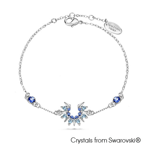 Sunray Bracelet Sapphire Pure Rhodium Plated Lush Addiction Crystals from Swarovski