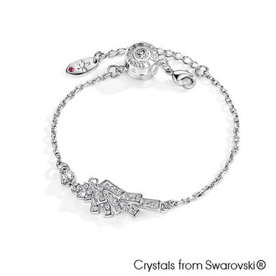 Angel Bracelet (Clear Crystal, Pure Rhodium Plated) - Lush Addiction, Crystals from Swarovski®