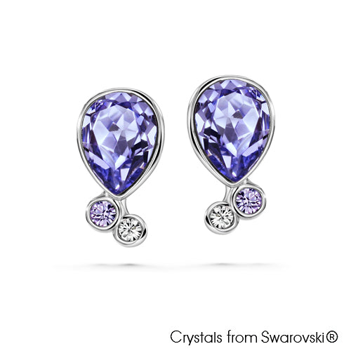 Victoria Earrings (Violet, Pure Rhodium Plated) - Lush Addiction