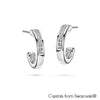 Loop Earrings (Clear Crystal, Pure Rhodium Plated) - Lush Addiction, Crystals from Swarovski®