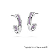 Loop Earrings (Violet, Pure Rhodium Plated) - Lush Addiction, Crystals from Swarovski®