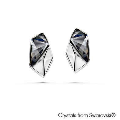 Futuristic Earrings (Pure Rhodium Plated) - Lush Addiction, Crystals from Swarovski®