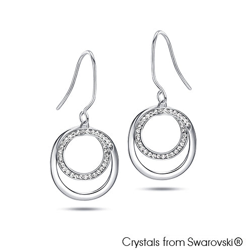 Corianne Earrings Clear Crystal Pure Rhodium Plated Lush Addiction Crystals from Swarovski