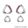 Alsie Earrings (Rose, Pure Rhodium Plated) - Lush Addiction, Crystals from Swarovski®