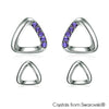 Alsie Earrings (Tanzanite, Pure Rhodium Plated) - Lush Addiction, Crystals from Swarovski®