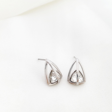 Pine Earrings Clear Crystal Pure Rhodium Plated Lush Addiction Crystals From Swarovski