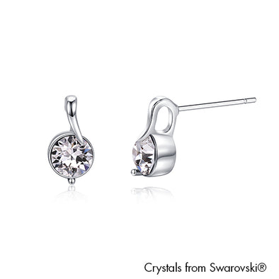 Cherry Earrings Clear Crystal Pure Rhodium Plated Lush Addiction Crystals from Swarovski