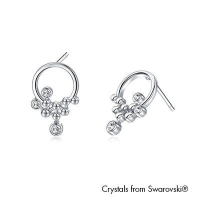 Horea Earrings Pure Rhodium Plated Lush Addiction Crystals from Swarovski