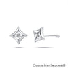 Diamanto Earrings Clear Crystal Pure Rhodium Plated Lush Addiction Crystals from Swarovski