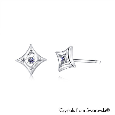 Diamanto Earrings Light Sapphire Pure Rhodium Plated Lush Addiction Crystals from Swarovski