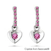 Lave Earrings (Rose, Pure Rhodium Plated) - Lush Addiction, Crystals from Swarovski®