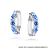 Clio Earrings (Sapphire, Pure Rhodium Plated) - Lush Addiction