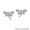 Gilen Earrings (Clear Crystal, Pure Rhodium Plated) - Lush Addiction, Crystals from Swarovski®