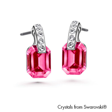 Orthogonal Earrings (Rose, Pure Rhodium Plated) - Lush Addiction, Crystals from Swarovski®