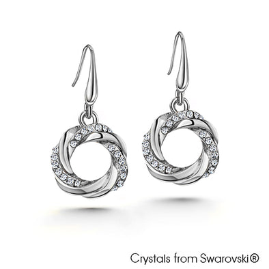 Jamille Earrings Clear Crystal Pure Rhodium Plated Lush Addiction Crystals from Swarovski