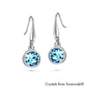 Solitaire Birthstone Hook Earring (Aquamarine, Pure Rhodium Plated) - Lush Addiction, Crystals from Swarovski®