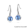 Solitaire Birthstone Hook Earring (Light Sapphire, Pure Rhodium Plated) - Lush Addiction, Crystals from Swarovski®