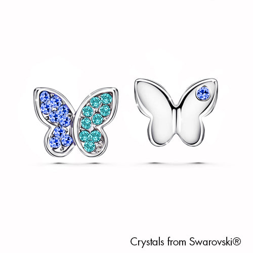 Odette Earrings (Sapphire, Pure Rhodium Plated) - Lush Addiction