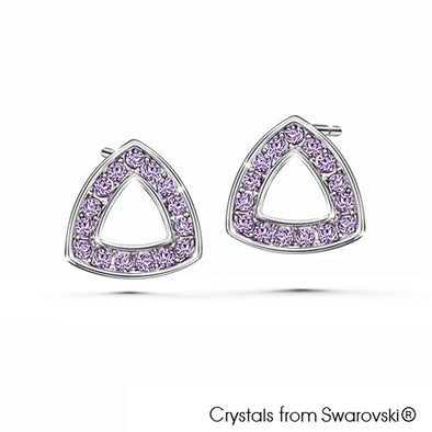 Tara Earrings (Violet, Pure Rhodium Plated) - Lush Addiction, Crystals from Swarovski®