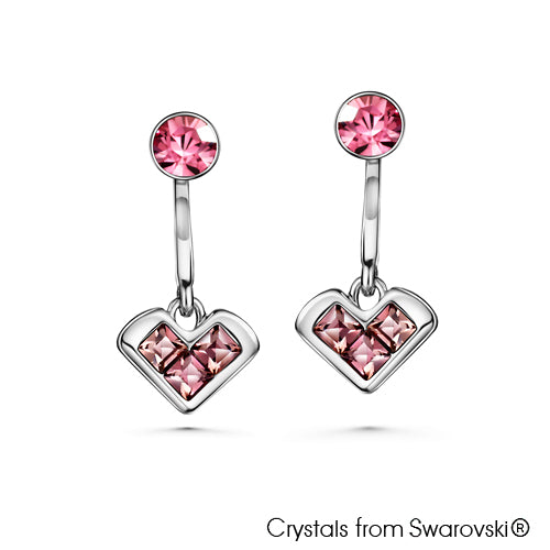 Devoted Love Earrings TGR Pure Rhodium Plated Lush Addiction Crystals from Swarovski