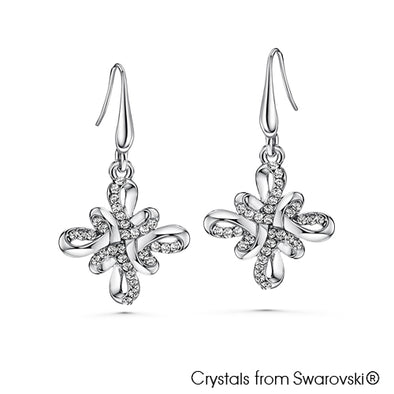 Mystic Knot Earrings (Pure Rhodium Plated) - Lush Addiction, Crystals from Swarovski®