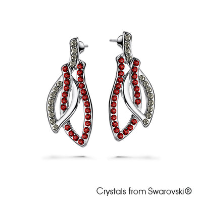 Passion Earrings (Clear Crystal, Pure Rhodium Plated) - Lush Addiction, Crystals from Swarovski®