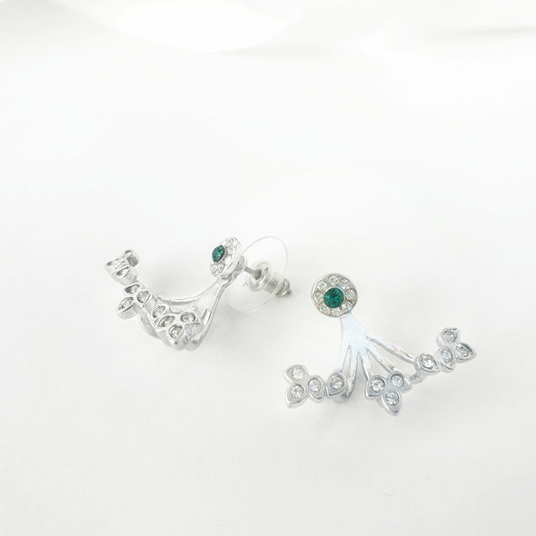 Gaia Earrings Clear Crystal Pure Rhodium Plated Mood Shot