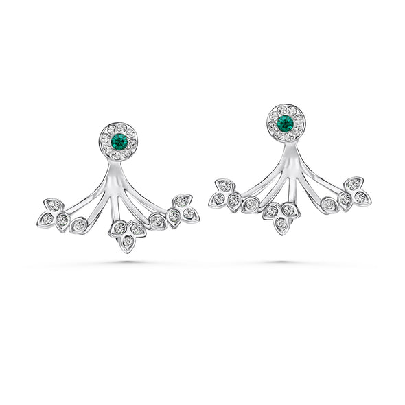 Gaia Earrings (Crystal, Pure Rhodium Plated) - Lush Addiction, Crystals from Swarovski
