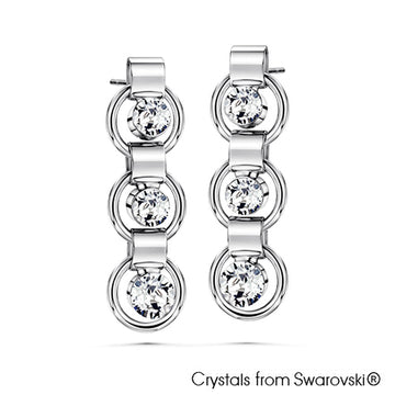 Eternity Earrings (Clear Crystal, Pure Rhodium Plated) - Lush Addiction, Crystals from Swarovski®