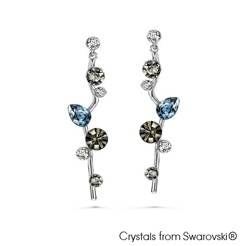 Waterfall Earrings (Pure Rhodium Plated) - Lush Addiction, Crystals from Swarovski®