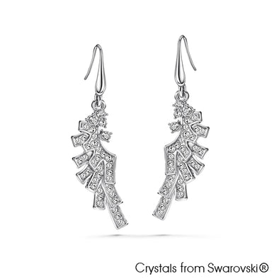 Angel Earrings (Clear Crystal, Pure Rhodium Plated) - Lush Addiction, Crystals from Swarovski®