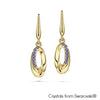 Ellipse Earrings (Tanzanite, 18K Gold Plated) - Lush Addiction, Crystals from Swarovski®