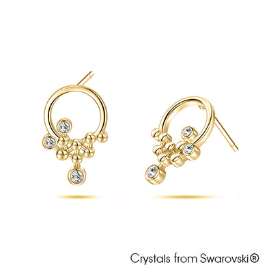 Horea Earrings Clear Crystal Pure Rhodium Plated Lush Addiction Crystals from Swarovski