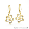 Dianthe Earrings Clear Crystal 18K Gold Plated Lush Addiction Crystals from Swarovski