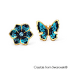 Grazia Earrings Aquamarine 18K Gold Plated Lush Addiction Crystals from Swarovski