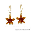 Cattleya Earrings Clear Crystal 18K Gold Plated Lush Addiction, Crystals from Swarovski®