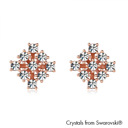 Stardust Earrings (Clear Crystal, Rose Gold Plated) - Lush Addiction, Crystals from Swarovski®