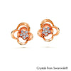 Linnea Earrings Clear Crystal Rose Gold Plated Lush Addiction Crystals from Swarovski