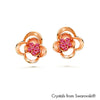 Linnea Earrings Rose Rose Gold Plated Lush Addiction Crystals from Swarovski
