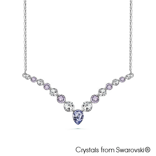 Victoria Necklace (Violet, Pure Rhodium Plated) - Lush Addiction, Crystals from Swarovski®