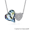 Hestia Necklace (Crystal Blue Shade, Pure Rhodium Plated) - Lush Addiction, Crystals from Swarovski®