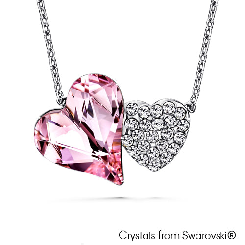 Hestia Necklace (Rosaline, Pure Rhodium Plated) - Lush Addiction, Crystals from Swarovski®