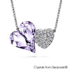 Hestia Necklace (Violet, Pure Rhodium Plated) - Lush Addiction, Crystals from Swarovski®