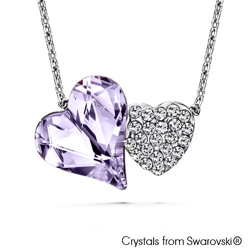 Hestia Necklace (Violet, Pure Rhodium Plated) - Lush Addiction